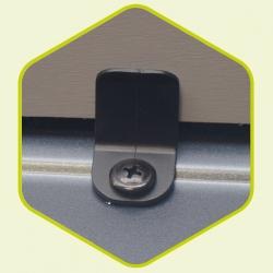 Clips plastique pour fixation panneaux de portes
